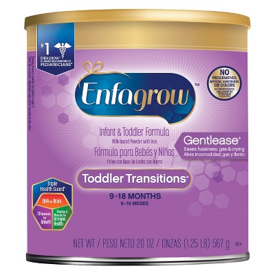 Enfagrow Toddler Transitions Gentlease Powder Formula - 20oz