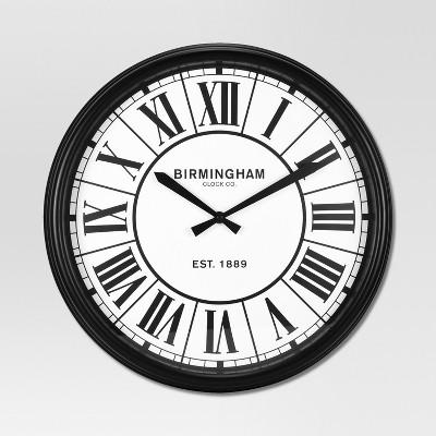 Decorative Wall Clock - Black - Threshold™