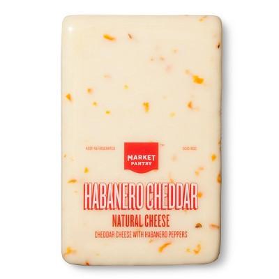 Habanero Cheddar Natural Cheese - Price Per lb. - Market Pantry™