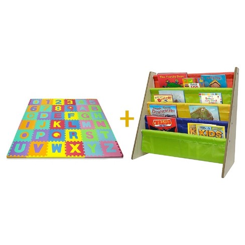 Sorbus Kids Activity Bundle Number Puzzle Mat and Bookshelf - image 1 of 5