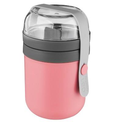 BergHOFF Leo 0.5 Qt Dual Lunch Pot, Pink & Gray