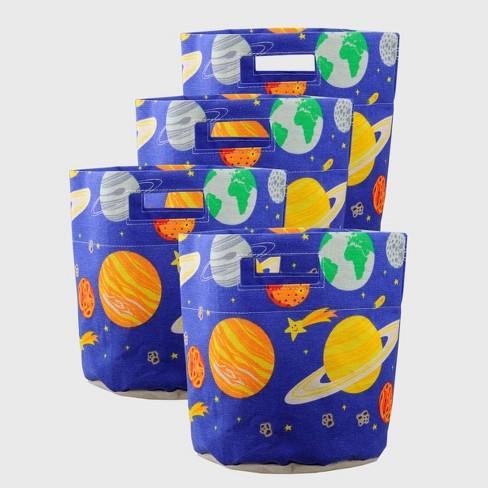 4ct Kids' Collapsible Storage Bins Space Print  - Bullseye's Playground™ - image 1 of 3
