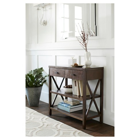 Owings Console Table 2 Shelf With Drawers Threshold Target