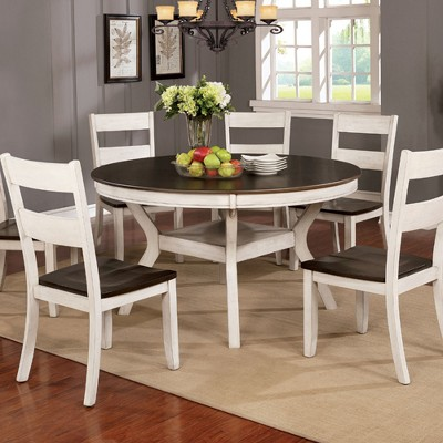 Genial Burton Round Wood Dining Table Antique White   Homes: Inside + Out