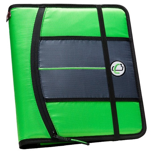 "Case•it 1"" Ring Binder with Hard Cover, 9 Pockets, 8.5"" x 11"" - Green - image 1 of 2"