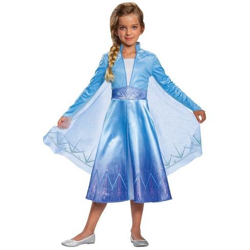 Elsa Halloween Costumes For Kids.Kids Frozen 2 Elsa Deluxe Halloween Costume 7 8 Target