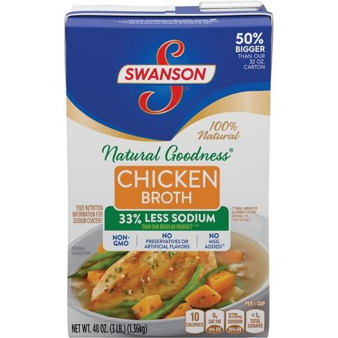 Swanson Natural Goodness Chicken Broth Carton - 48fl Oz ...