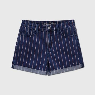 Women's High-Rise Jean Shorts - Universal Thread™ Dark Blue
