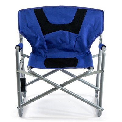 SlumberTrek 3053278VMI Junior Outdoor Portable Kids Director Chair with Side Folding Table for Camping, Beach, and Sporting Events, Blue