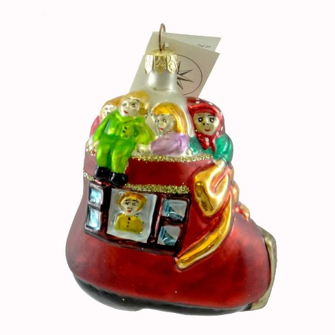 Christopher Radko Be It Ever So Humble Ornament Boot Christmas - image 1 of 2