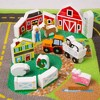 Melissa & Doug Deluxe Activity Road Rug Play Set with 49pc Wooden Vehicles and Play - image 4 of 4