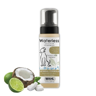 Wahl No-Rinse Waterless Shampoo Oatmeal Formula Coconut Lime 7.1 oz