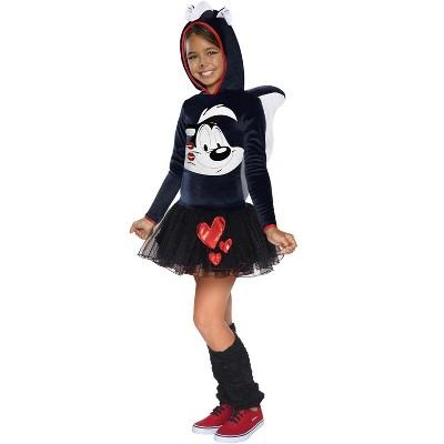 Looney Tunes Pepe Le Pew Girl Child Costume