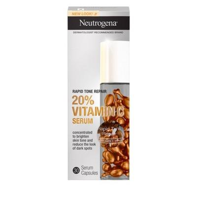 Neutrogena Rapid Tone Repair Vitamin C Serum Capsules - 30ct
