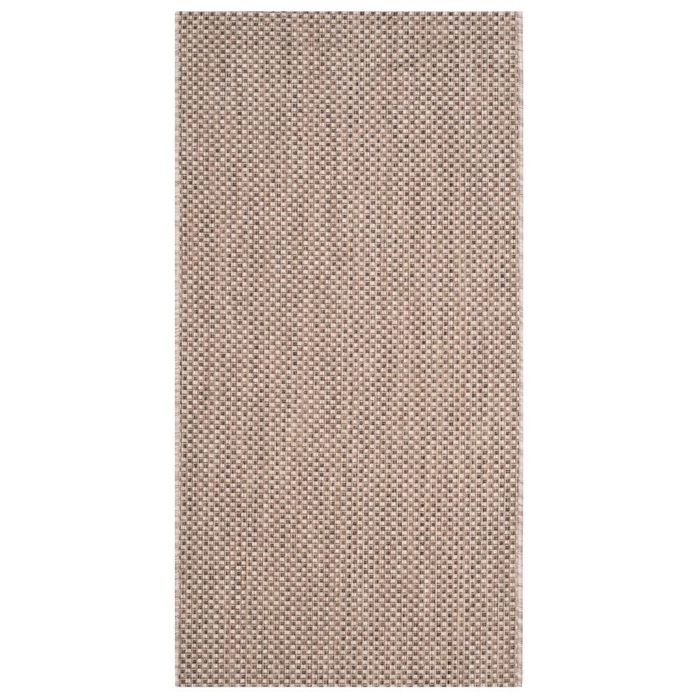 Cherwell Rectangle 2'7 X 5' Outdoor Rug - Beige / Brown - Safavieh