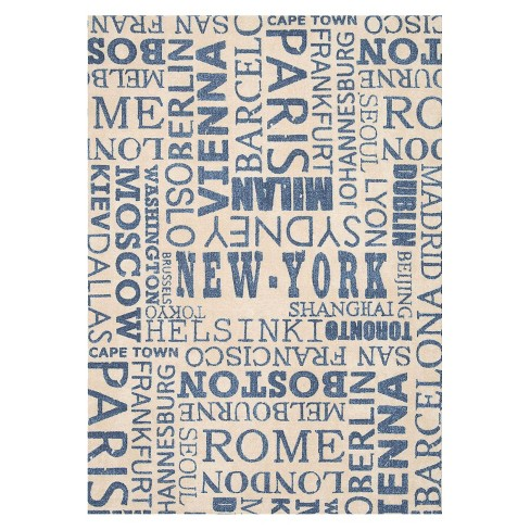 Waverly Cities Indoor/Outdoor Rug - Cream/Blue (8'x11') - image 1 of 4