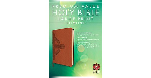 Holy Bible : New Living Translation, Cross, Premium Value, Slimline, Large Print (Paperback) - image 1 of 1