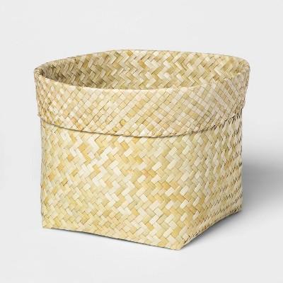 Leaf Basket With Rolled Edge Large - Threshold™