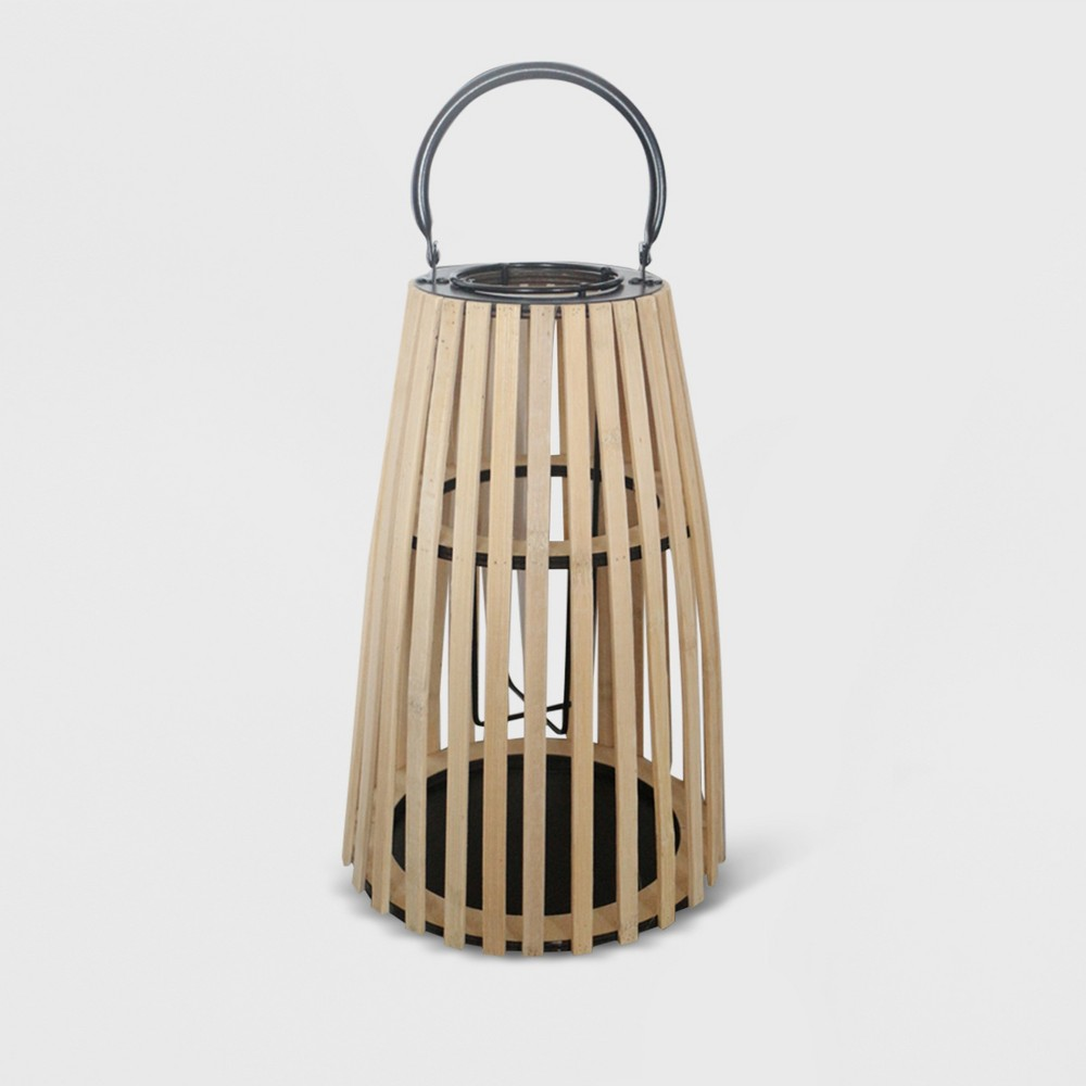 "Image of ""12"""" Taper Outdoor Lantern Natural - Opalhouse"""