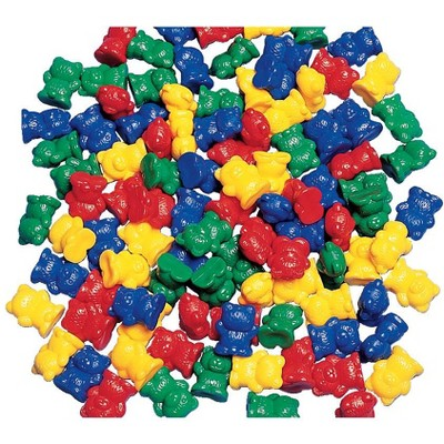 Childcraft Small Bear Counters, 3/4 Inches, Assorted Colors, set of 100