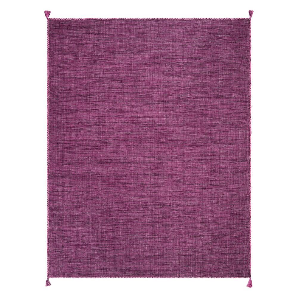 8'X10' Solid Woven Area Rug Purple/Black - Safavieh