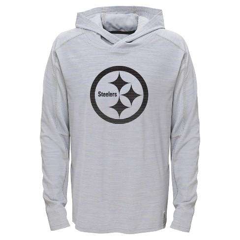 c755bafb7 Pittsburgh Steelers Boys  Lightweight Gray Pullover Hoodie - XS   Target