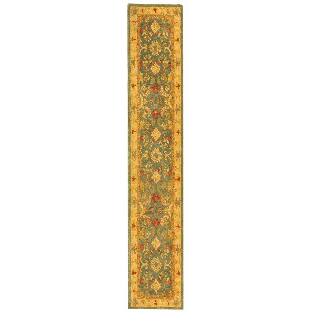 23X20 Tufted Floral Runner Rug Light Blue/Ivory - Safavieh Compare