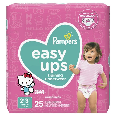 Pampers Easy Ups Girls Training Pants Jumbo Pack (Select Size) - image 1 of 4