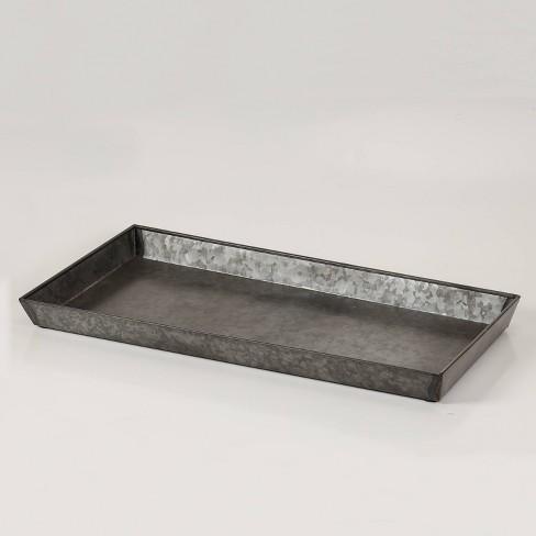 Galvanized Sheet Boot Tray - Zinc Finish - Smith & Hawken™ - image 1 of 2