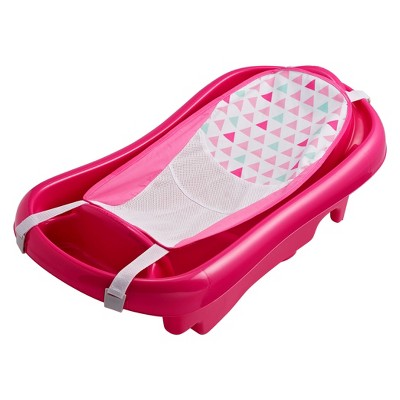 The First Years Sure Comfort Deluxe Newborn-to-Toddler Tub with Sling - Pink