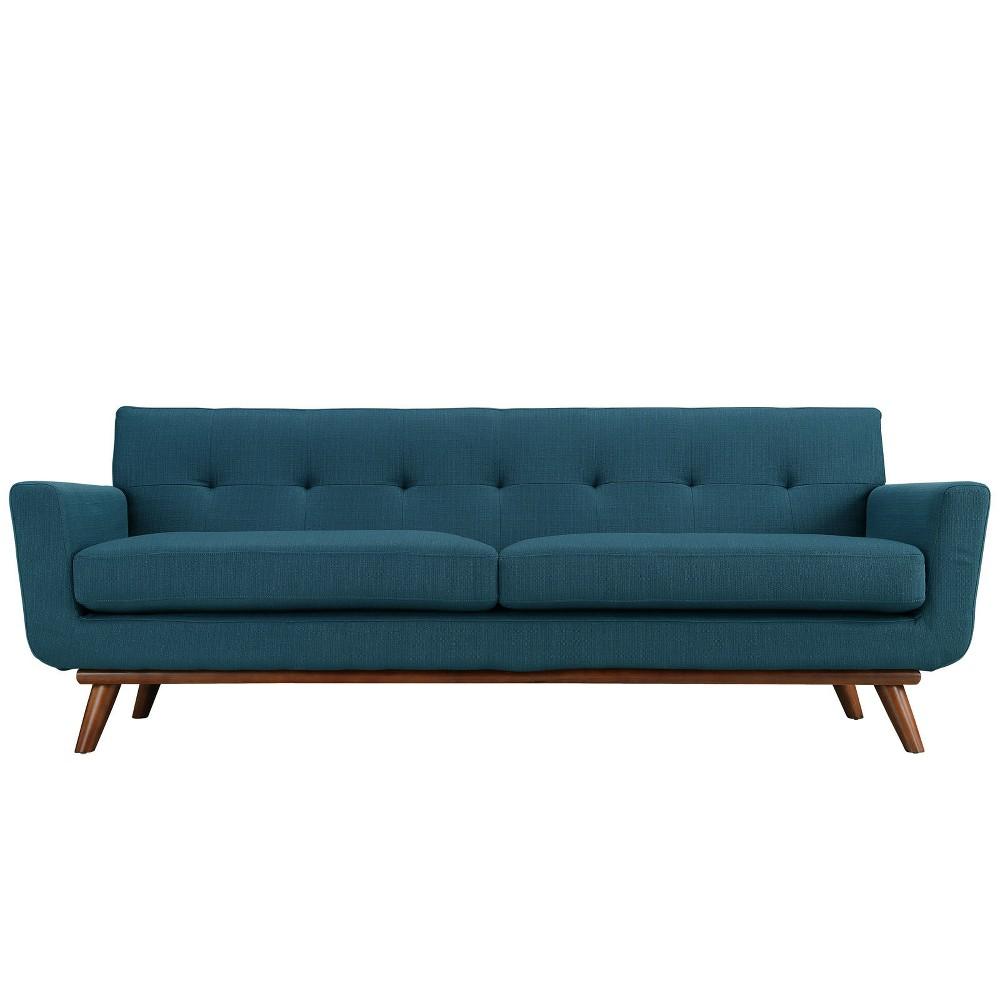 Engage Upholstered Sofa Azure (Blue) - Modway