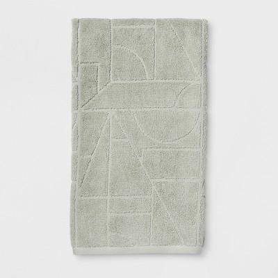 Geo Sculpted Bath Towel Green - Project 62™