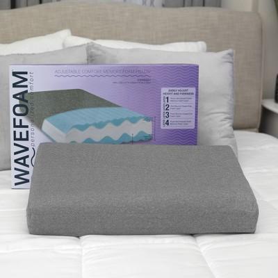 SensorPEDIC WaveFoam Adjustable Comfort Memory Foam Pillow