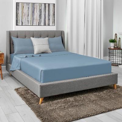 Sealy Queen Cool & Clean Microfiber Bonus Sheet Set Blue