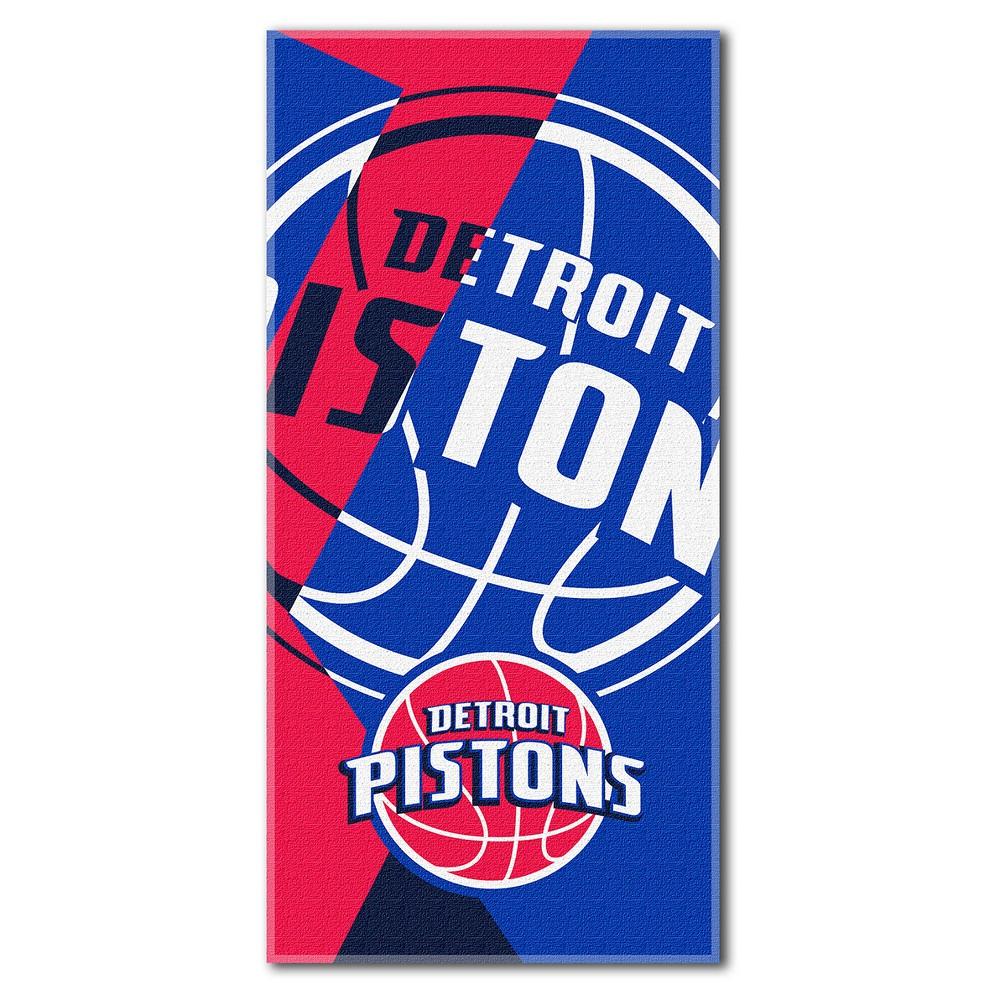 Detroit Pistons Northwest Puzzle Beach Towel