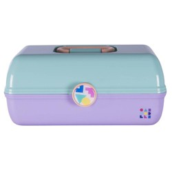 Retro Caboodles On the Go Girl Case Seafoam Lid and Lavender Base