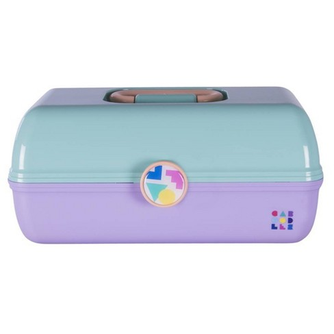 Retro Caboodles On the Go Girl Case Seafoam Lid and Lavender Base - image 1 of 4