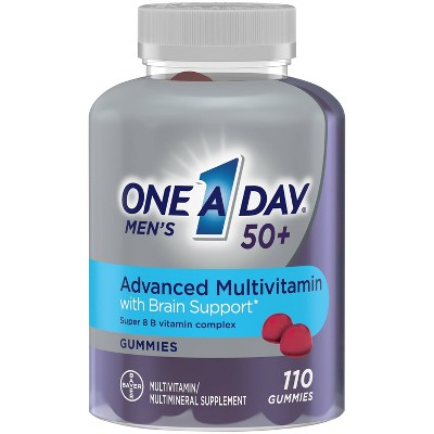 One A Day Men Multivitamins with Brain Support Gummies - 110ct
