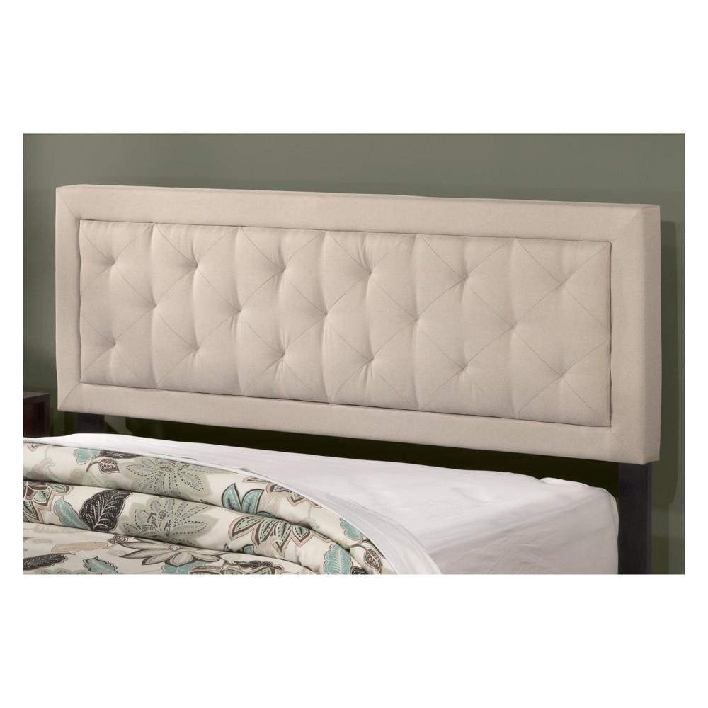 La Croix Upholstered Headboard King Smoke (Grey) Fabric Metal Headboard - Hillsdale Furniture