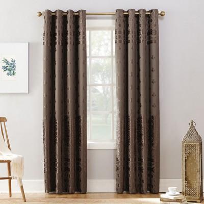 Sun Zero Elidah Bonded Velvet Blackout Grommet Curtain Panel