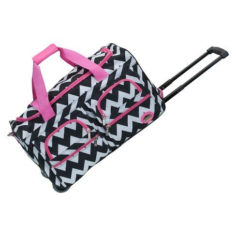 833214ce0876 Rockland Rolling Duffle Bag - Pink Chevron (22
