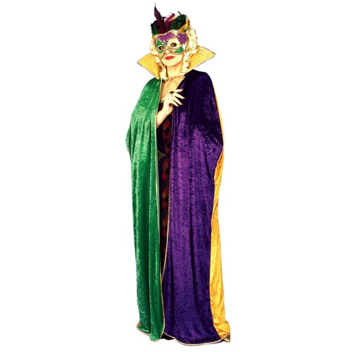 Halloween Women's Mardi Gras Costume Cape