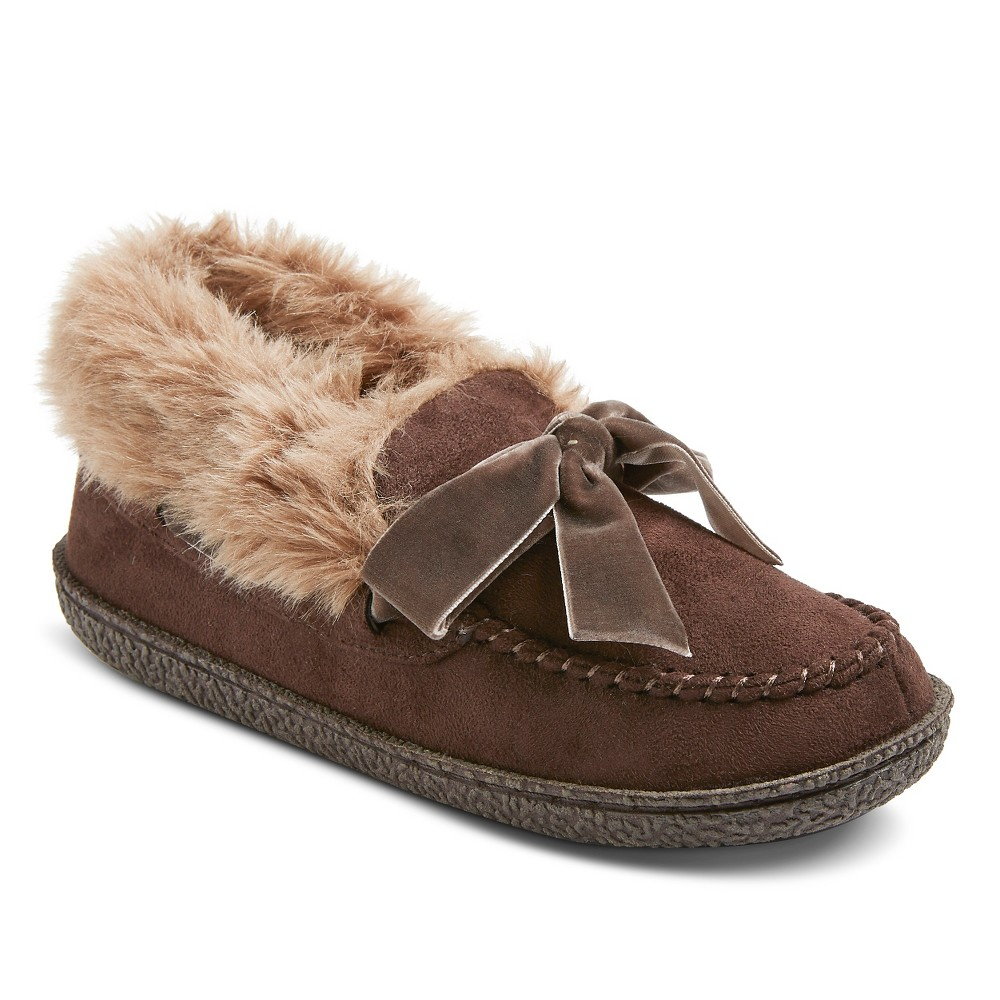 Women's Comfy by Daniel Green Bootie Slippers - Brown 9