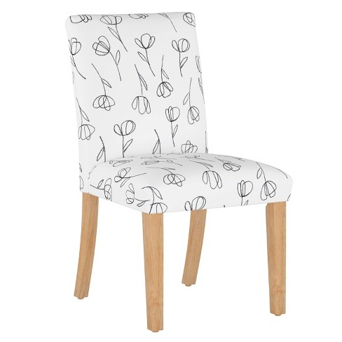 Dining Chair Contoured Tulips White - Cloth & Company - image 1 of 4