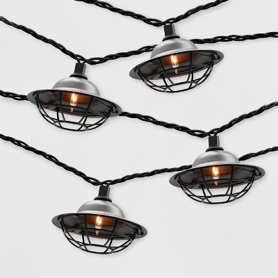 10ct Outdoor String Lights Black Cage - Threshold™