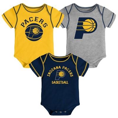 NBA Indiana Pacers Baby Boys' Rookie Bodysuit Set 3pk