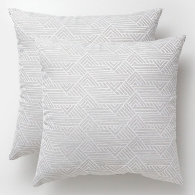 2pk Square Range Pewter Outdoor Pillows - Project 62™