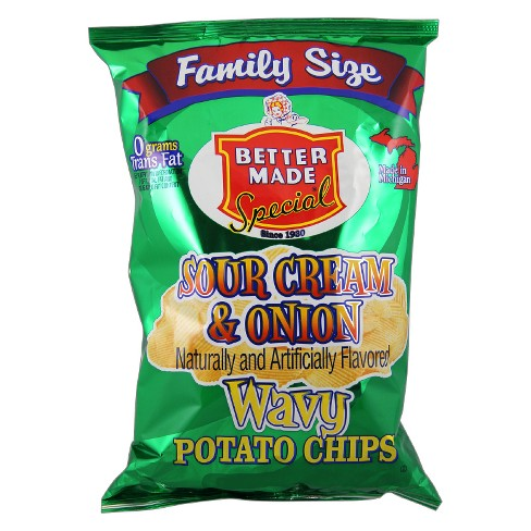 Better Made Special Sour Cream & Onion Wavy Potato Chips - 9.5oz - image 1 of 1