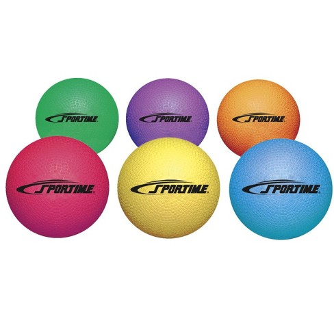 Sportime Playground Rubber Balls, Assorted Colors, set of 6 - image 1 of 1