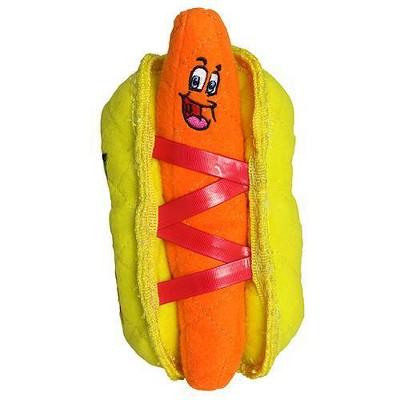 Tuffy Funny Food Hot Dog Dog Toy